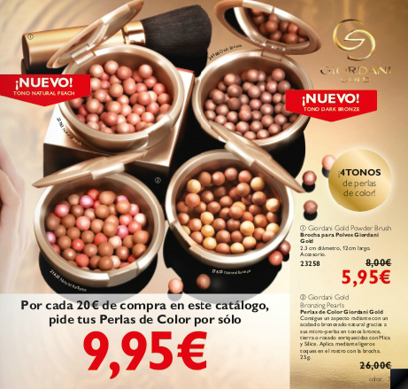 Perlas de Color o Meteoritos Oriflame catalogo